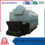 Chaudière à eau chaude à chaînes horizontale de charbon mou de grille