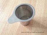 Thé à maille fine Infuser de feuilles mobiles d'acier inoxydable de tamis de thé de traitement large chaud de vente