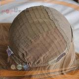 Parrucca cascer ebrea superiore di seta di qualità superiore di colore marrone chiaro Mixed biondo superiore di modo di scoppi
