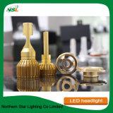 feixe do dobro da microplaqueta da ESPIGA do ouro do jogo do farol do diodo emissor de luz 9004 9007 C6