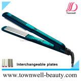 Straightener Nano da prata de Coreia e do cabelo do revestimento cerâmico do Tourmaline