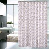 Cortina de ducha impermeable impresa popular del cuarto de baño de la tela del poliester
