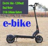 2 rotelle che conducono la bici del motorino elettrica