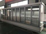 Refrigeradores usados verticais da porta de vidro de deslizamento do supermercado comercial