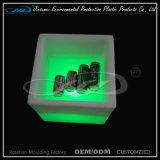 Cubeta de gelo plástica da mobília do diodo emissor de luz para o armazenamento da cerveja do vinho