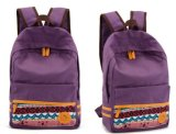 (KL279) Sacos de ombro dobro duráveis personalizados dos sacos de escola da lona dos estudantes