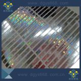 Étiquette olographe d'hologramme de garantie avec l'impression de numéros de série sur l'étiquette