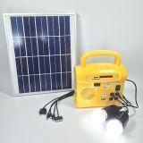 Mini sistema solare esterno portatile della fabbrica con la lampada del LED