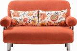 Bâti de sofa convertible de dormeur de tissu élégant