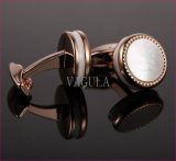 VAGULA New Cuffs Natural Mother Pearl Gemelos Maçaneta Mar Menos de mancuernas 52500