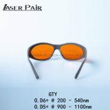 Vidros do olho do laser da proteção do laser de Eyewear da proteção da segurança de laser do esporte para 2 a linha YAG e KTP