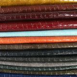 袋のハンド・バッグのための模造ワニPUの革