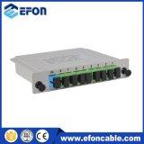 La fibra óptica ADSL de 2 maneras 1X2 PLC Splitter Precio, PLC 144 Core Splitter con el encierro