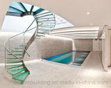 Boog van het glas/boog Trap met het Glas van het Traliewerk van het Glas dat voor de Decoratie van het Huis wordt betreden
