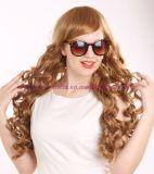 Peruca sintética Curly do cabelo da forma longa com estrondos