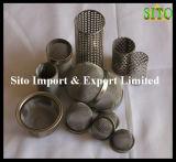 ステンレス鋼の水処理のための編まれた金網のフィルター素子