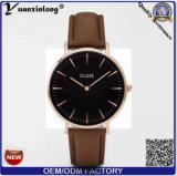 Yxl-234 el cuarzo encantador de Japón Movt de la caja de acero inoxidable del Wristband del cuero genuino de señora reloj mira el reloj de Cluse para las mujeres 2016 de los hombres