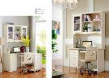 Jogo de quarto moderno de madeira branco puro do estilo de país da mobília (A101)