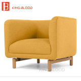 분홍색 색깔 직물 실내 장식품 온라인으로에서 나무로 되는 팔 의자 구매