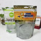 La nueva bolsa de plástico del estilo de Hotsale se levanta la bolsa con la cremallera para el alimento/los frutos secos/el té