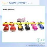 Las niñas clásicos para niños dulces del bebé de las sandalias encantadora con las decoraciones metálicas