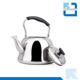 Populäres Edelstahl-Wasser und Tee-Kessel mit kühlem schwarzem Griff