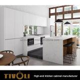 Het witte en Zwarte Matte ontwerp tivo-0272h van de Douane van de Keukenkasten van de Verf