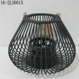 Bianco, nero e naturale delle lanterne di bambù di modo con la maniglia