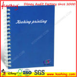 Pista de nota del bolsillo del precio de fábrica/cuaderno espiral del cuaderno/PP del cuaderno del diario/de la reunión de Busniss