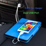 2 포트 iPhone, Samsung를 위한 보편적인 까만 이중 USB 차 충전기