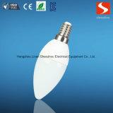 Velas baratas del programa piloto LED de C35 6W E12 E14 IC