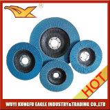 125X22mm Zirconia Alúmina Óxido Flap abrasivo de discos (respaldo de fibra de vidrio)