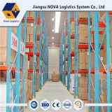 Défilement ligne par ligne lourd de palette d'entrepôt de logistique de nova