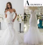 Vestidos de casamento brandnew da alta qualidade da amostra real da sereia de Aoliweiya
