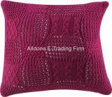Coperchio decorativo del cuscino dell'ammortizzatore del Knit con colore solido