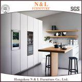 Module de cuisine en bois de laque à haute brillance blanche à la maison moderne de meubles