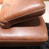 회전 의자 (1277A+32)와 일치하는 최고 털쪽을 겉으로 하여 다듬은 가죽 소파