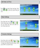 7-tägiger wöchentlicher programmierbarer Bildschirm-Raum-Thermostat (HTW-31-DT12)