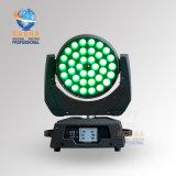Luz principal móvil de la colada del zoom LED de Rasha Panta V36 5in1 Rgbaw para el partido del acontecimiento del proyecto de la boda de la etapa con DMX Powercon