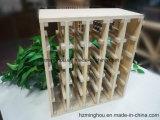 Soporte de visualización de madera llano natural del vino para el estante de visualización del vino