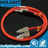 Sc de câble de cavalier de fibre à l'orange duplex à plusieurs modes de fonctionnement de rue