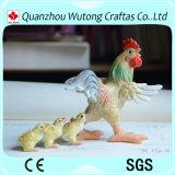 Figurine bello del pollo della resina di disegno creativo per il regalo di festa