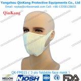 Máscara lisa não tecida da dobra, Ffp1, Ffp2, máscara de poeira Ffp3