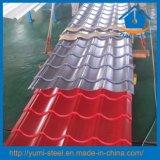 Panneaux en acier ondulés de tôle de couleur pour le mur et le toit