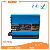 CC solare incorporata 12V del regolatore 10A di Suoer 500W all'invertitore solare della carica di CA 220V (SUS-500A)