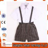 Chemise de Blanc-Coton de l'été 100%Cotton et uniforme scolaire de gosses de pantalon
