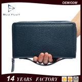 Bolsa da mão das senhoras do grampo do dinheiro das carteiras do telefone do couro genuíno