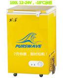 Purswavewr/Wf-108 108L Gleichstrom-sondern Solarbrust-Gefriermaschine 12V24V48V die Tür-Kühlraum Gleichstrom-Kompressor-Gefriermaschine aus, die durch Sonnenkollektor und Batterie -18degree angeschalten wird