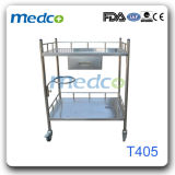 Carro/carretilla Emergency del equipo de la droga del instrumento de los muebles del hospital del S.S