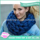Écharpe chaude de grand dos de coton de crochet d'Acrylicpolyester de laines
